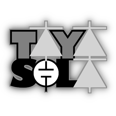 Black & White version of TayaSola Logo